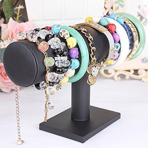 Bracelet de bijoux en cuir hunpta–Collier Femme–Rangement pour support écran