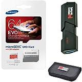 Samsung Evo Plus 64GB MicroSD XC Class 10UHS-1Speicherkarte Mobile Speicherkarte Galaxy S7& S7Rand mit USB 3.0Ultra High Speed memorymarket MicroSD & SD Memory Card Reader & Card Wallet