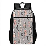 TRFashion Sac à Dos Seahorses Laptop Computer Backpack 17 inch Stylish Casual...