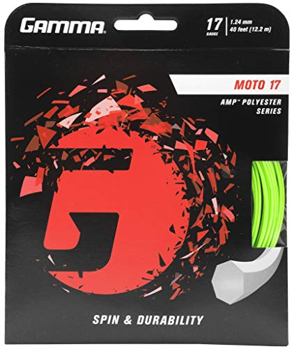 Gamma Tennissaite Moto Set 17 GZMO-12, Grün (Lime) 12.2 m (1.24 mm)