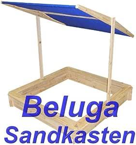 Beluga Sandkasten mit Sonnendach u. Abdeckung: Amazon.de