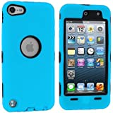 Blue Deluxe Hybrid Premium Rugged Hard Soft Case Skin Cover for Apple iPod Touch 5th Generation 5G 5