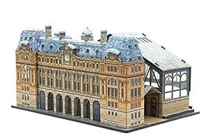 Keranova keranova3011: 220escala Clever papel histórico Edificios Gare Saint Lazare 3d Puzzle