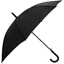 Severyn Paraguas de paseo con estampado de lunares y apertura automática para mujer