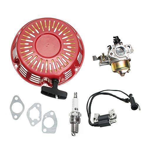 Cheng L Motorrad-Zubehör, Vergaser & Pull Starter Recoil & Zündspule Fit for Honda GX340 11HP GX390 13HP
