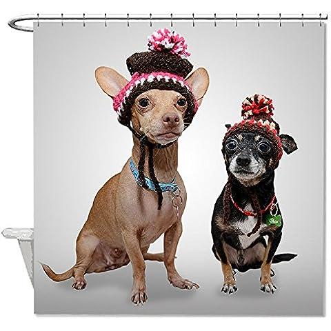 whiangfsoo Natale Chihuahua divertente cane impermeabile doccia tenda da doccia