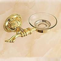 Bagno soap box di stile Europeo e vassoio di sapone antichi oro scolpito PORTASAPONE