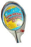 Padget bross 4BADM - Kit da Badminton, 4 Pezzi, 2 Racchette in Metallo + 2 volani