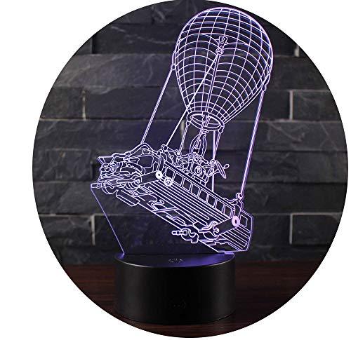 Win-Y 3D Lámpara de Escritorio, Y LED 7 del tacto del color de la lá