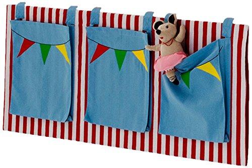 Steens For Kids Utensilo,Taschenset für Kinderbett, Hochbett, 93 x 38 x 1 cm (B/H/T), Baumwolle, blau (Bett-tasche-sets)