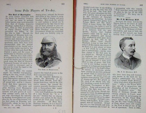 Sport 1893 della Torba di Harrington Herbert Mildmay dei Giocatori di Polo