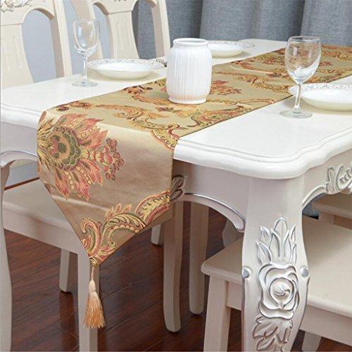 Miaoge Classica seta fiore ricamo nazionale runner wind tavolo tavolino table flag stoffa tessuto europeo