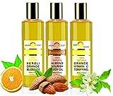 Aromaöl -Massageöle Feuchtigkeits Vitamin-C-Orangenblüte Mandel Orange 3 X 200 ML