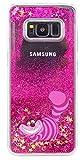 Phone Kandy Disque Transparent Phone Case Shell Glitter étoiles étincelle avec Cartoon (iPhone X, Cheshire Cat)