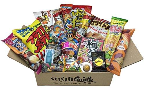 20 pcs bonbons japonais délicieuse du Japon DAGASHI FEVRIER set assortiments de confiseries cadeaux japanese candy chips