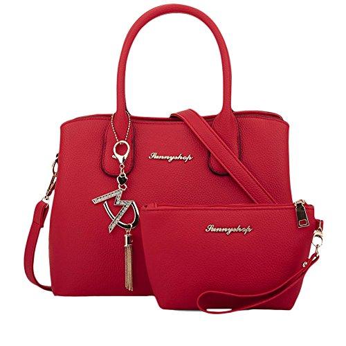 Donna Messenger Bag Borsa a Tracolla tempo libero Borsa Delle Semplice Rose Rosso