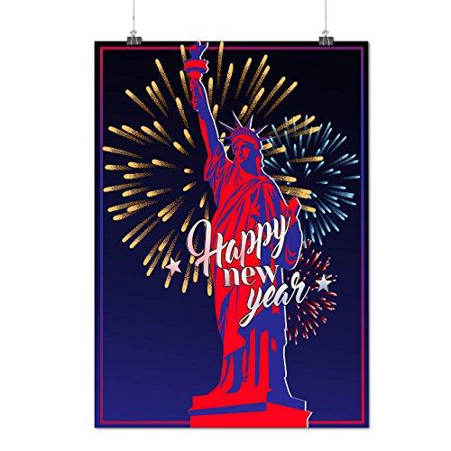 Freiheit Statue Neu Jahr Neu York Mattes/Glänzende Plakat A4 (30cm x 21cm) | (York Kostüme Halloween)