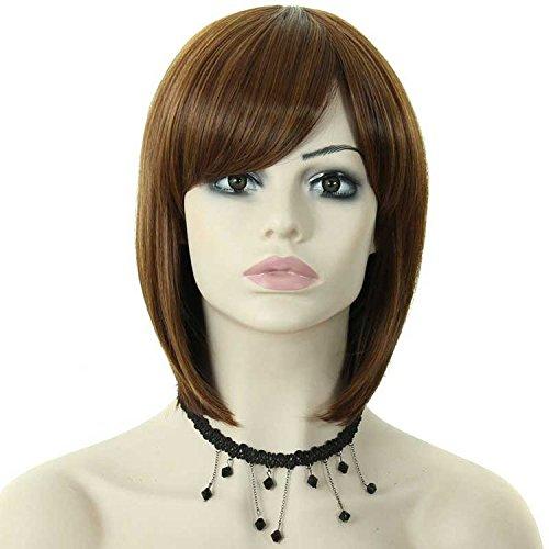 Européens et américains fashion oblique Liu BOBO haute température synthétique cheveux perruques dames perruque perruque soin support de fixation usés de Kit , set