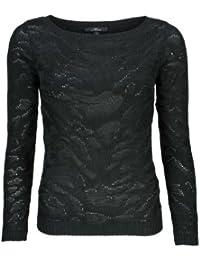 Pull à Col Rond Dan L/S Sweater Black MAVI