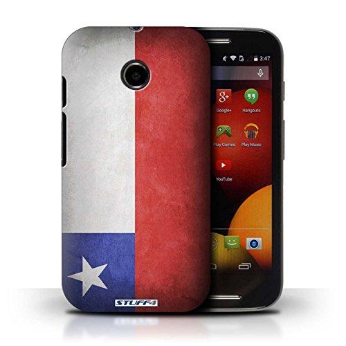 Kobalt® Imprimé Etui / Coque pour Motorola Moto E (2014) / Algérie conception / Série Drapeau Chili/Chiliean