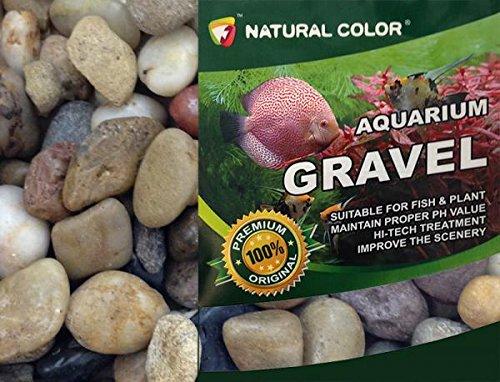 Colore Naturale Acquario Pietre ciottoli substrato Ghiaia, 1-2cm, 5kg