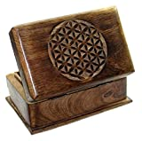 Budawi® wooden puzzle box with secret opening trick / Sheesham jewellery box, trick box
