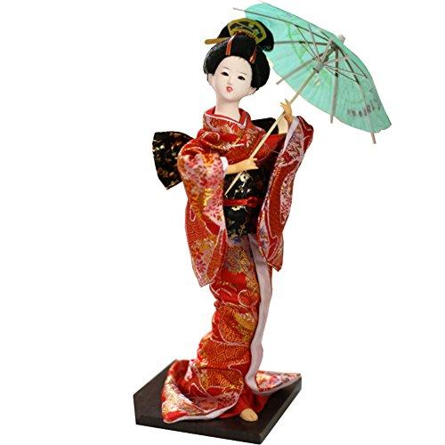 """Chinashow 12\"""" Traditionelle Japanische Schöne Kimono Geisha Puppe Orientalische Puppe Maiko Puppe Beste Geschenke A4"""
