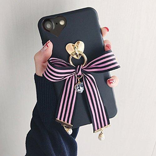 GHC Cases & Covers, Für iPhone 6 u. 6s Bowknot-Band-Art-weicher TPU schützender rückseitiger Abdeckungs-Fall mit Juwel-Anhänger ( SKU : Ip6g6211f ) Ip6g6211f