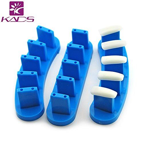 Kads 3 pcs/lot de haute résistance thermique Plastictip support pour utilisation Pratiquer entraînement Nail Art Faux Conseils d'affichage Outil d'entraînement