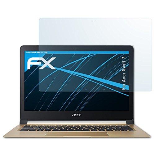 atFolix Schutzfolie kompatibel mit Acer Swift 7 Folie, ultraklare FX Displayschutzfolie (2X)