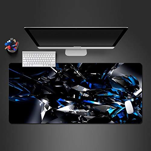 800 * 300 * 3 Mm Moderne Abstrakte Kunst 3D Blau Und Schwarz Mauspad MauspadGewaschen Großhandel ErweiterteGroße Matten Gaming Pad