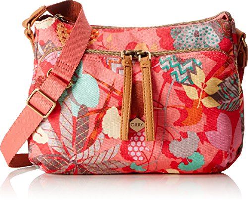 Oilily Damen S Shoulder Bag Umhängetasche, (Pink Flamingo), 9x19x26 cm