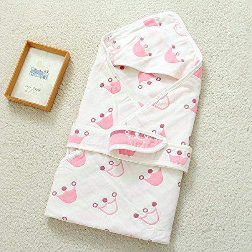 Baby Decke Baby Schlafsack 6 Schichten Gaze Neugeborenen Baumwolldecke Jacquard Quilts 35 4 * 35 4 Zoll,V-35.4*35.4in