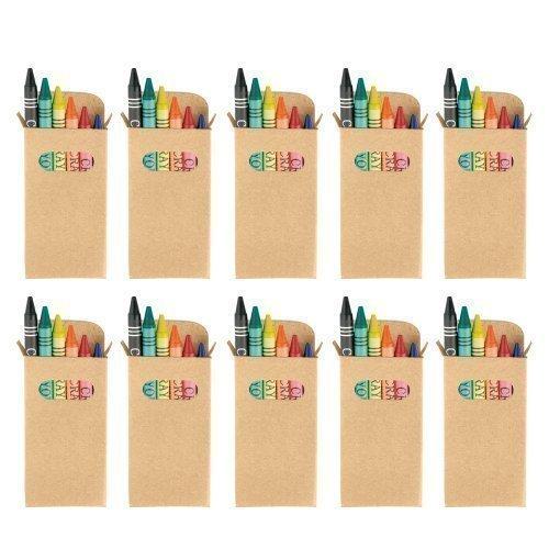 eBuyGB - Juego de ceras para colorear bolsa de fiesta para niños, juguete de boda, para regalo, paquete de 10