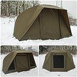 Quest Brolly System Karpfenangeln Bivvy 1Mann über Nacht Tag Shelter Zelt 23