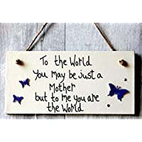 MadeAt94 Birthday and Mothers Day Gifts For Mum Plaque Butterflies