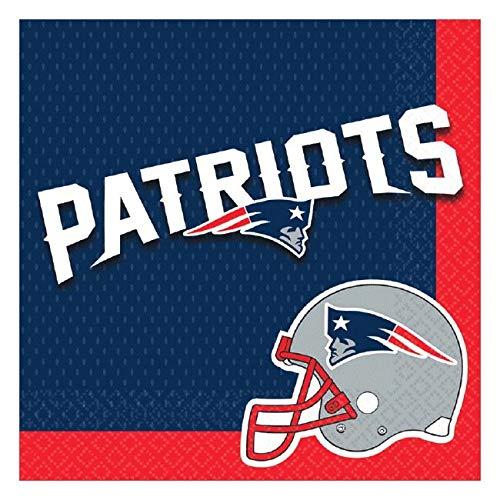 Amscan DesignWare Servietten New England Patriots NFL 16 Pieces Not Applicable (Nfl Party Supplies)