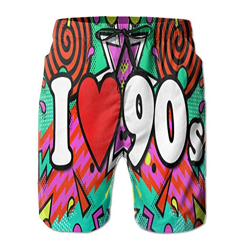 Gentleman Hybrid Boardshorts Casual Post 90s-90 Anniversaries-Birthdays Beach Short Pants L -