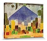 1art1 67409 Paul Klee - Der Niesen, Ägyptische Nacht, 1915 Poster Leinwandbild Auf Keilrahmen 50 x 40 cm