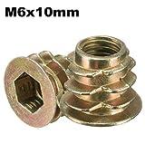 MYAMIA Tornillo De Accionamiento Hex En Inserto Roscado Tipo D Tuerca para Madera con Brida M4/M5/M6/M8/M10-#4