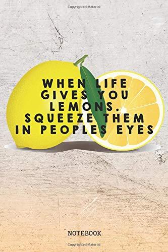 Notebook: Funny I Love Lemon Fruit Planner / Organizer / Lined Notebook (6