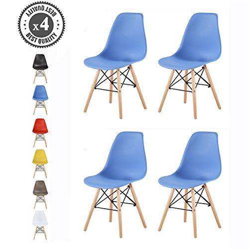 Style Retro KücheBüroLoungeKonferenzzimmer Inspirierter FarbenKultblau Lia Design Stühle 4er Etc6 Mcc Für SetEiffelturm Im kXZOPiu