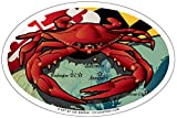 Citizen Maryland Rot Crab Oval Magnet, 15,2 x 10,2 cm – Euro Car Kühlschrank Locker Vinyl Magnet