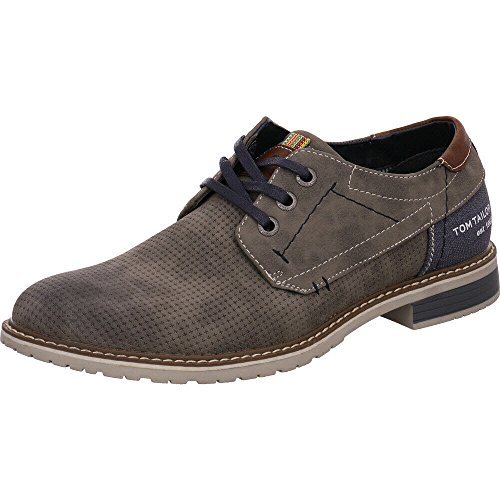 Tom Tailor 4882001, Brogues Homme Gris