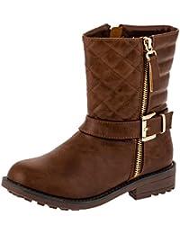 0f0d62a96 Amazon.es  Marrón - Botas   Zapatos para niña  Zapatos y complementos