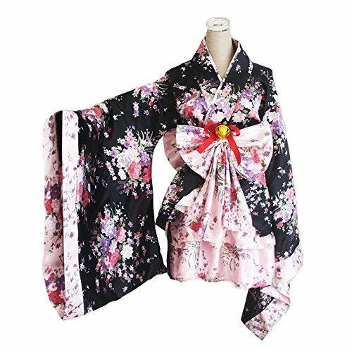 CoolChange Lolita Kimono Cosplay Kostüm mit Rüschenrock und Kimono mit weiten Ärmeln (XL)