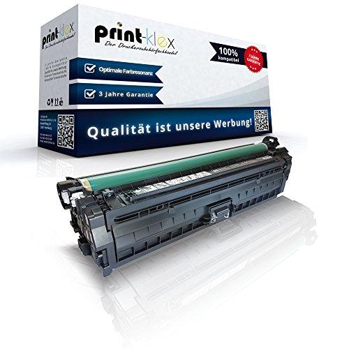 Print-Klex Kompatible Tonerkartusche für HP Color LaserJet Enterprise CP5520 Series Enterprise CP5525 DN Enterprise CP5525 N Enterprise CP5525 XH CE270 CE270A Schwarz