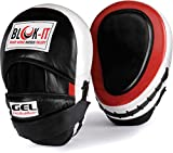 GEL Focus Pads: By Blok-IT --- [Focus Mitts, Punch Mitts, Hook & Jab Pads, Punching Mitts] --- Suitable For Boxing, MMA, Thai Boxing, Kickboxing, Boxercise, Karate, Taekwondo, Krav Maga, Wing Chun & Other Martial Arts (Weiß)