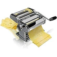 Bluespoon Nudelmaschine aus Edelstahl | Pastamaschine mit verstellbarer Knetwalze für 9 verschiedene Stärken | Pastamaker für max. Teigbreite von 150 mm | Pasta ganz einfach selber machen