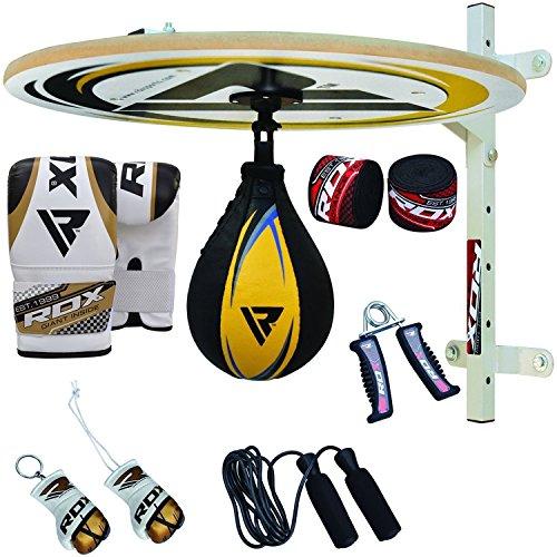 RDX 12PC Piattaforma Punchingball Pelle Vacchetta Palla Tesa per Speed Ball Bag Veloce Boxe Allenamento Pugilato